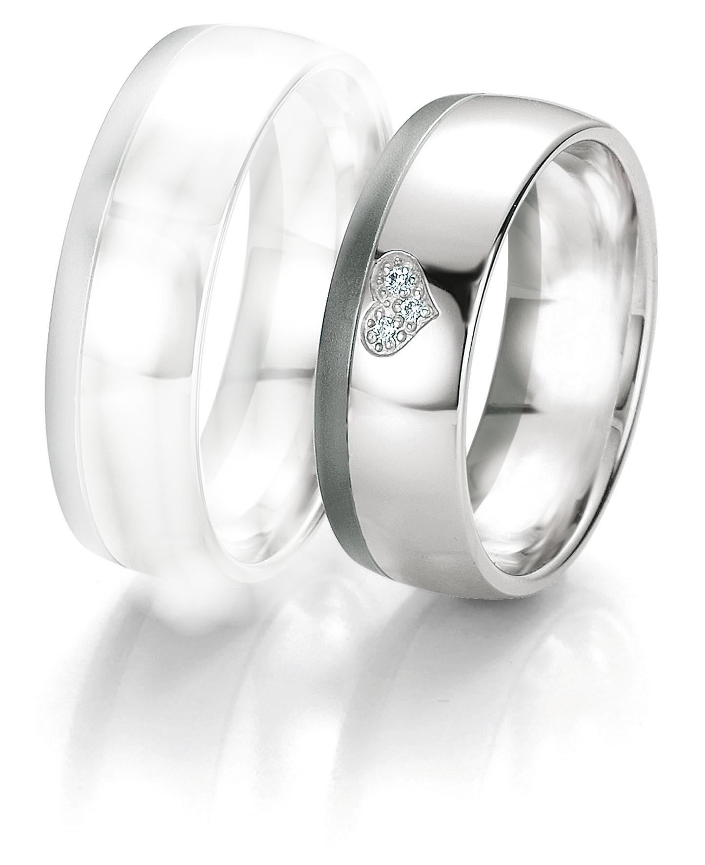 Alliance dame or blanc et diamants